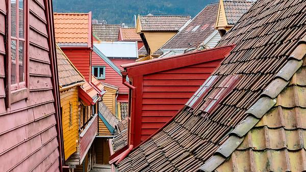 Rooftops, old Bergen port