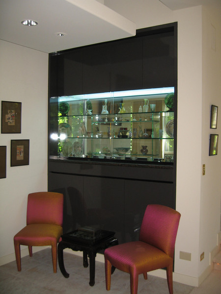 Built-in Glass Box for antiquities.