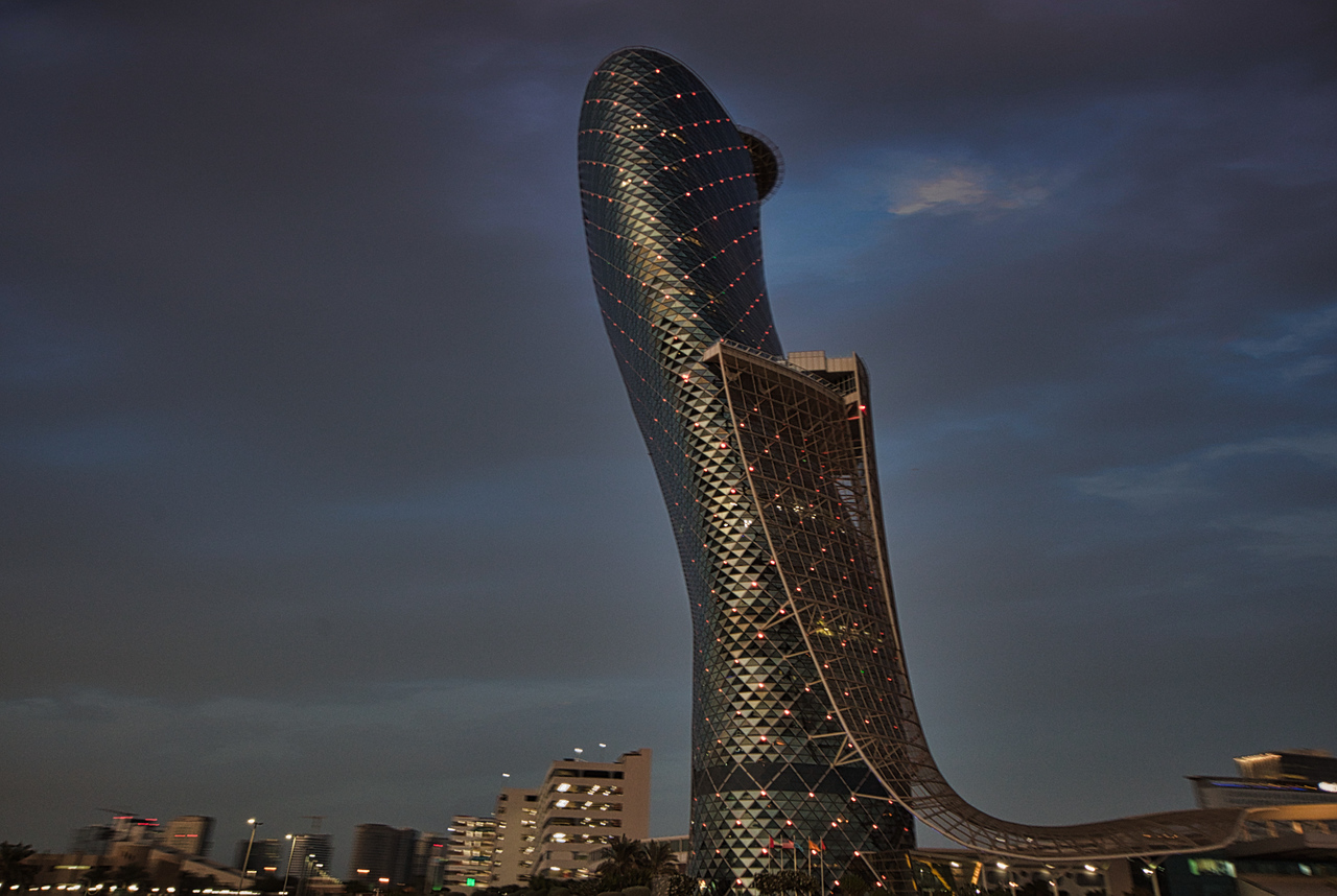 Another eye-catching structure in Abu Dhabi.
