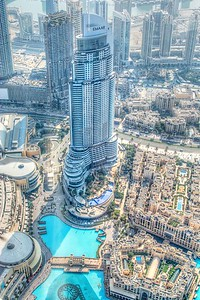 View from Burj Khalifa's observation deck.