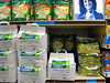 Paris, France, Store Interior, Monoprix Supermarket, Shelves with Products on Display