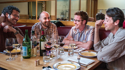 Zibibbo, Palo Alto, with Chris Witmore, Alfredo Ruibal, Tim Webmoor, May 2007