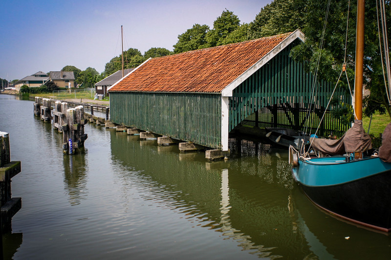 Edam, The Netherlands<br /> Boathouse.