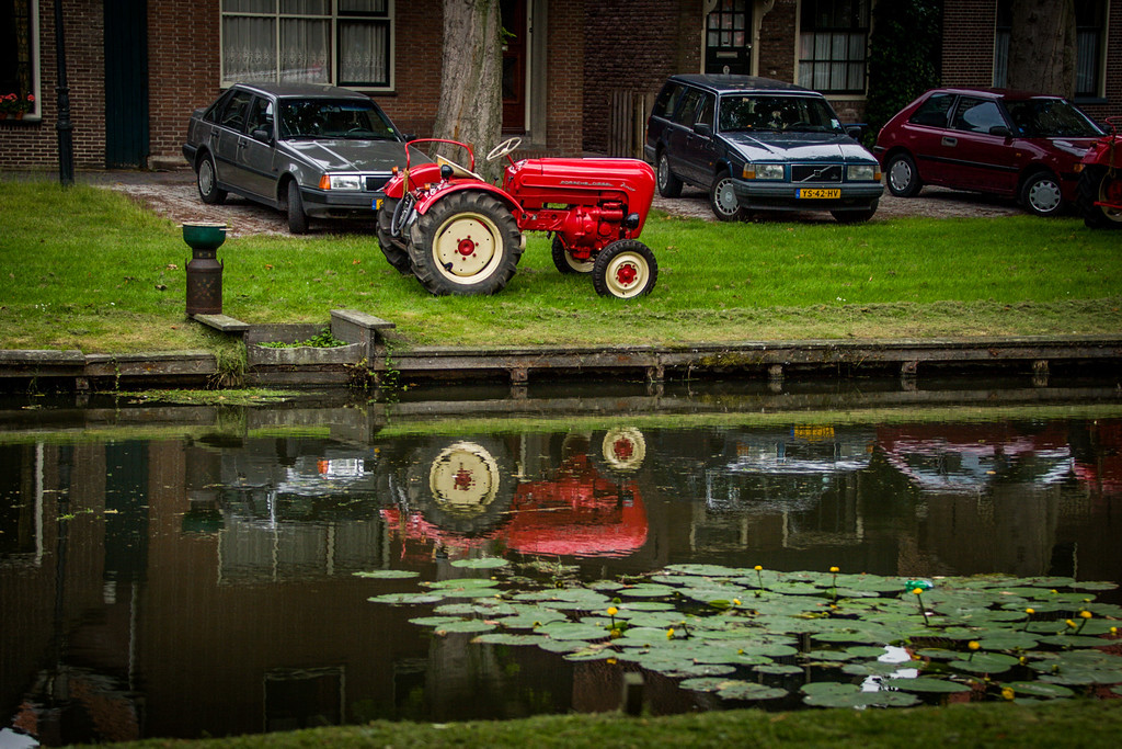 Edam, The Netherlands<br /> Reflections.
