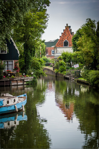 Edam, The Netherlands<br /> Watery gardens.