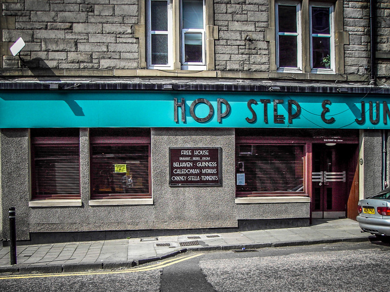 Edinburgh, Scotland<br /> The 'Hop Step & Jump' (it's near Meadowbank Stadium) on Marionville Rd.