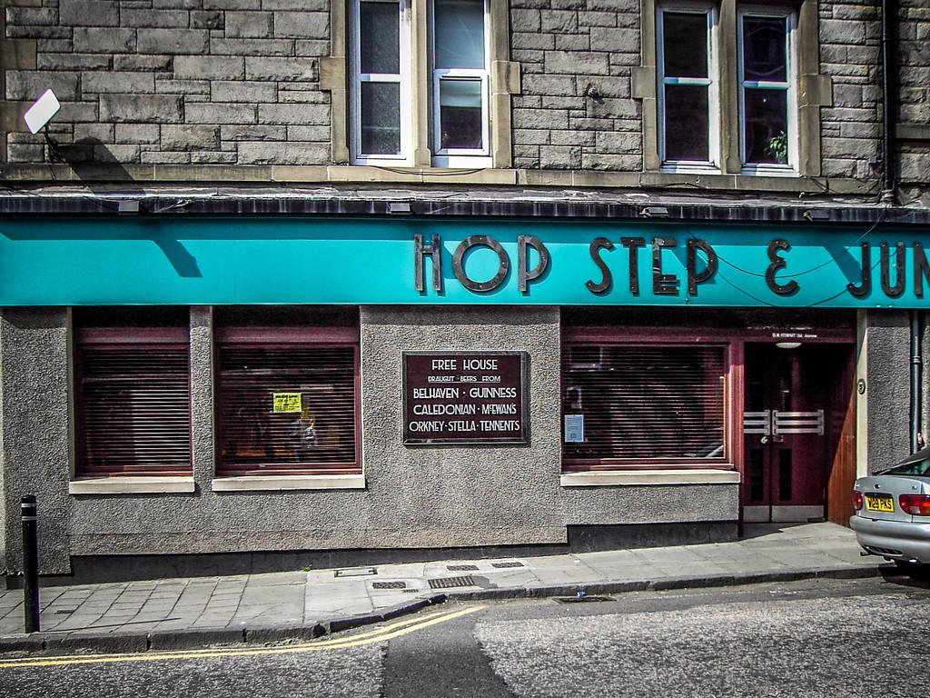 Edinburgh, Scotland<br /> The 'Hop Step & Jump' (it's near Meadowbank Stadium) on Marionville Rd.