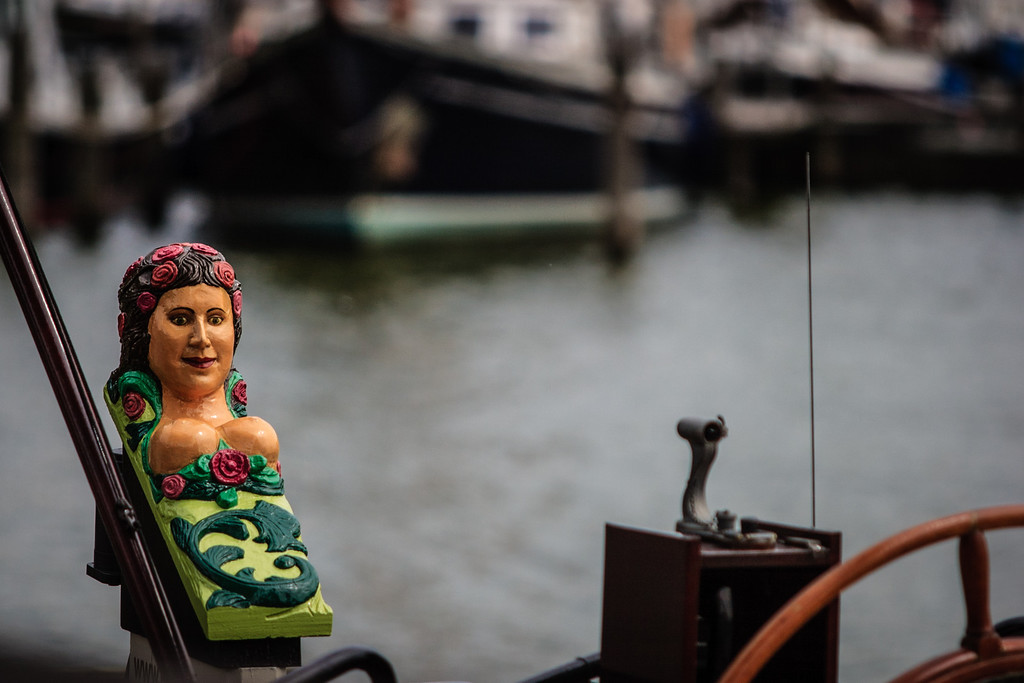 Hoorn, The Netherlands<br /> One of the more colorful figureheads around the harbour.