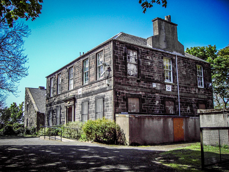 Edinburgh, Scotland<br /> Lochend House, built around 1816. The building behind it is all that remains of an earlier baronial residence on the site.