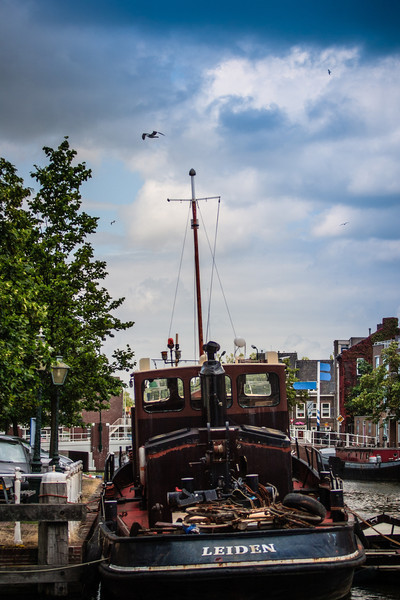 Leiden, The Netherlands<br /> An aptly named boat.