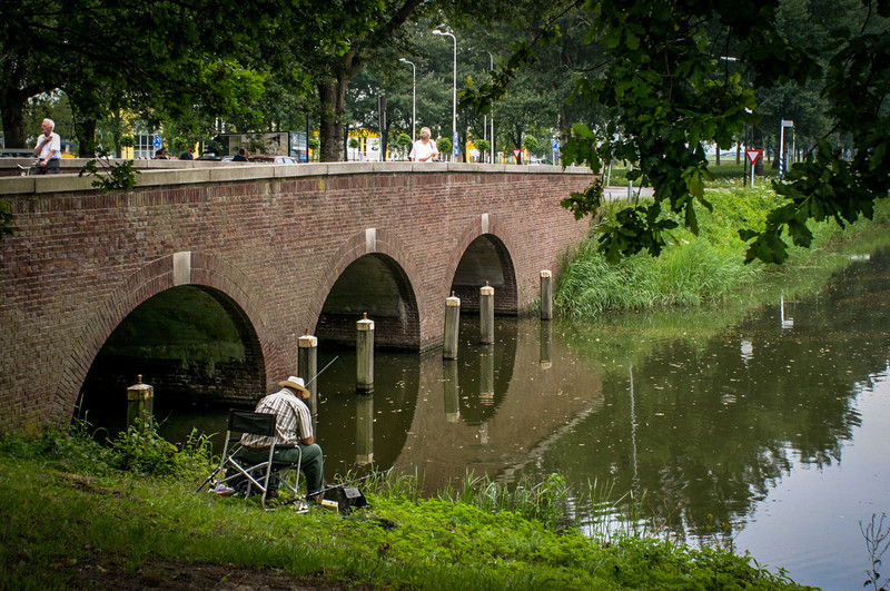 Edam, Netherlands<br /> Fishing.