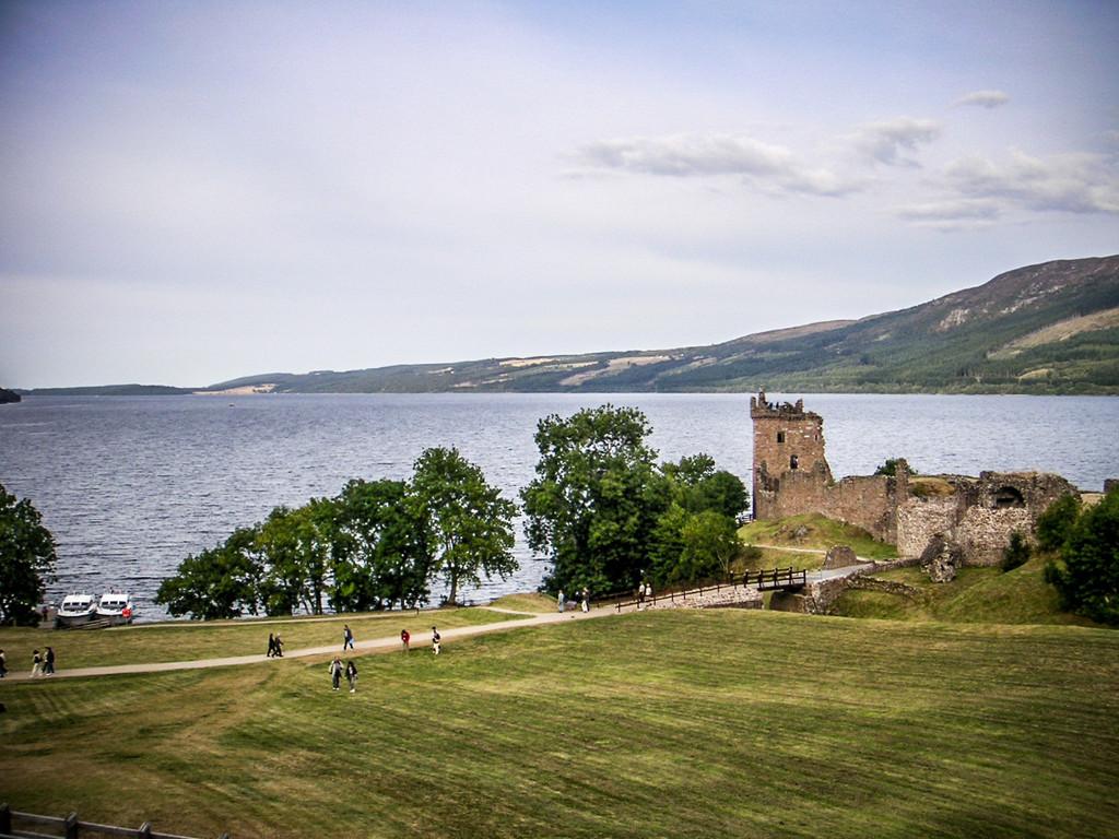 Loch Ness, Scotland<br /> Urquhart Castle.
