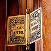 Texas State Capitol, door hinge detail