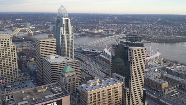 Carew Tower Observation Deck - Cincinnati - 20 Dec. '16
