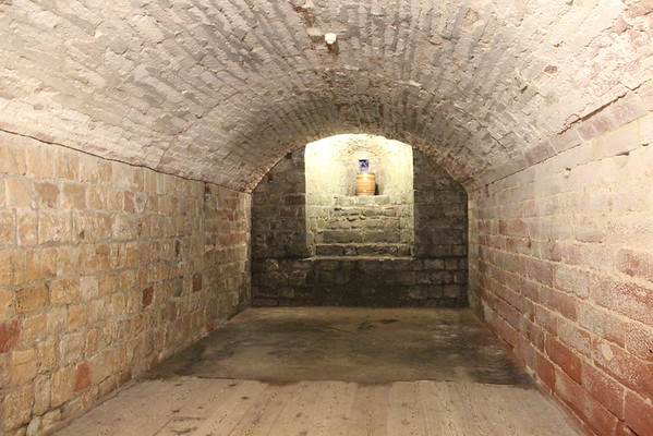 Basement Store Room in the Keep.<br /> Carlisle Castle<br /> 25 July 2015