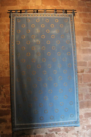 Wall hanging in the Keep.<br /> Carlisle Castle<br /> 25 July 2015