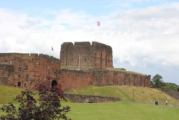 Looking at the east side of the castle.<br /> Carlisle Castle<br /> 25 July 2015