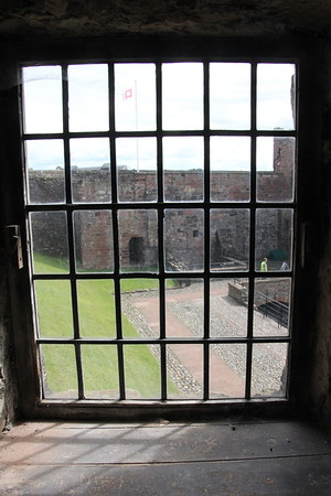 Looking out to the Inner Keep from the Captain's Tower.<br /> Carlisle Castle<br /> 25 July 2015