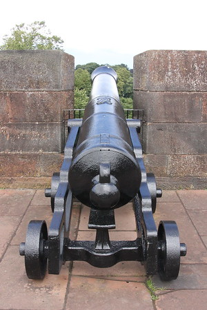 Cannon on the North Wall.<br /> Carlisle Castle<br /> 25 July 2015