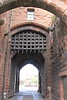 The main entrance with portcullis<br /> Carlisle Castle<br /> 25 July 2015