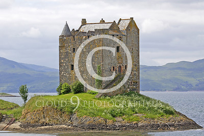 Castle 00001 Castle Stalker Scotland circa 1340 AD by Tony Fairey