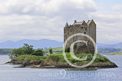 Castle 00003 Castle Stalker Scotland circa 1340 AD by Tony Fairey