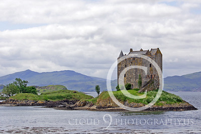 Castle 00002 Castle Stalker Scotland circa 1340 AD by Tony Fairey