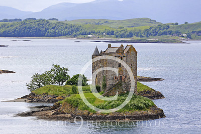 Castle 00004 Castlel Stalker Scotland circa 1340 AD by Tony Fairey