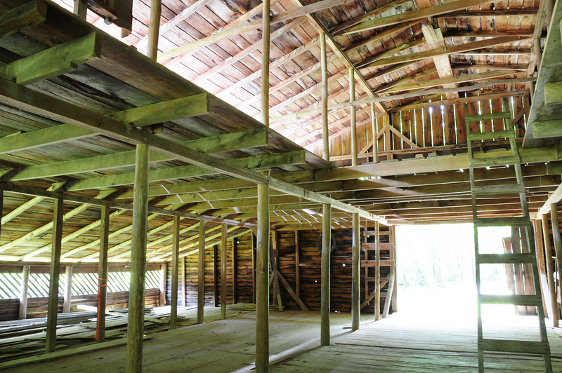 Palmer Place built in 1869 by George Lafayette Palmer: inside the barn loft