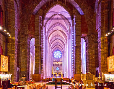 Interior view, St. John the Divine in HDR Color