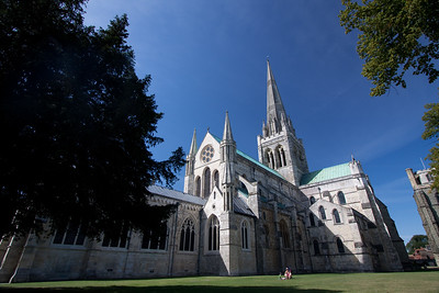 Chichester Cathedral in the sun, August 2009