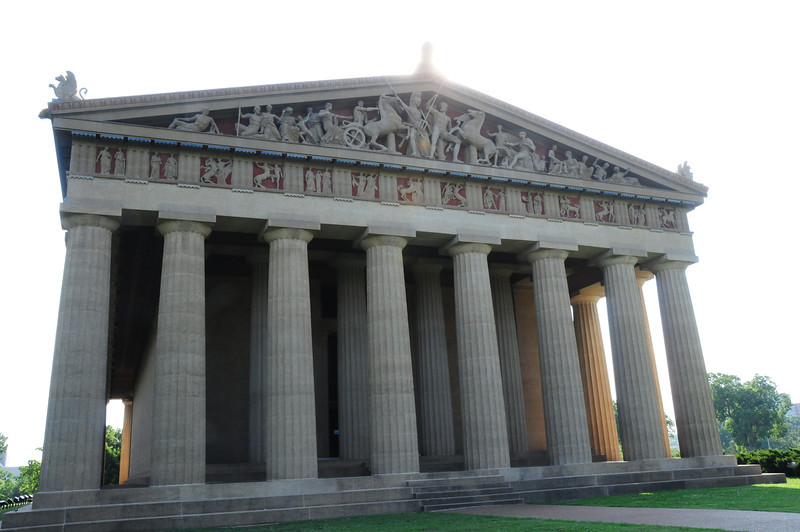 The Parthenon western octostyle portico and pediment