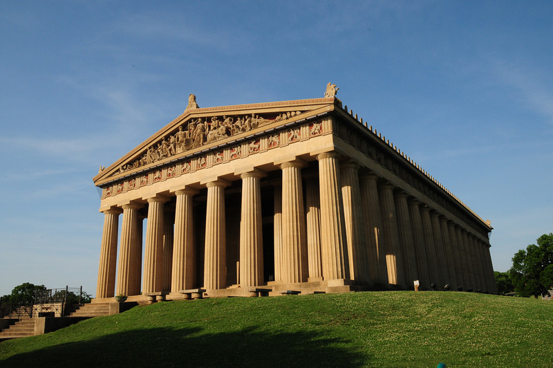 The Parthenon as viewed from the east highlighting the octostyle portico and pediment