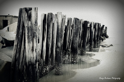 Beach jetty - Charleston Harbor Sullivan's Island SC