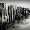 Beach jetty - Charleston Harbor<br /> Sullivan's Island SC