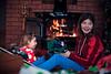 Opening Pupée Jenna's presents<br /> Chelsea living room, Christmas<br /> December 25, 2014