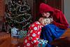Stella & Julia on Christmas morning<br /> Chelsea, Québec<br /> December 25, 2014