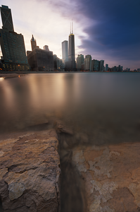 """On the Rocks"" Chicago, Illinois Ohio Street Beach"