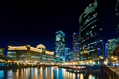 Chicago Riverfront nightscape 2