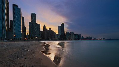 """Ohio Street Beach"" Chicago, Illinois"