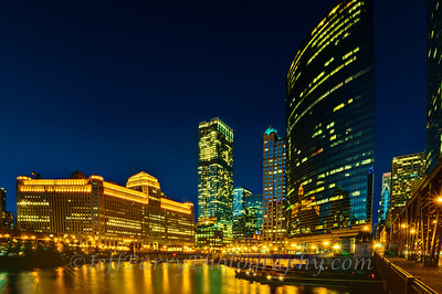 Chicago Riverfront nightscape