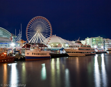 Navy Pier on a cold winter morning