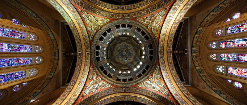 The Dome, Basilica de St Therese, Liseaux.