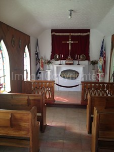 Smallest church inside - Silver Lake WV