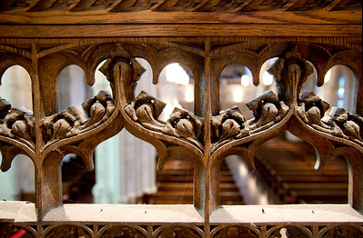 Rood screen rear detail