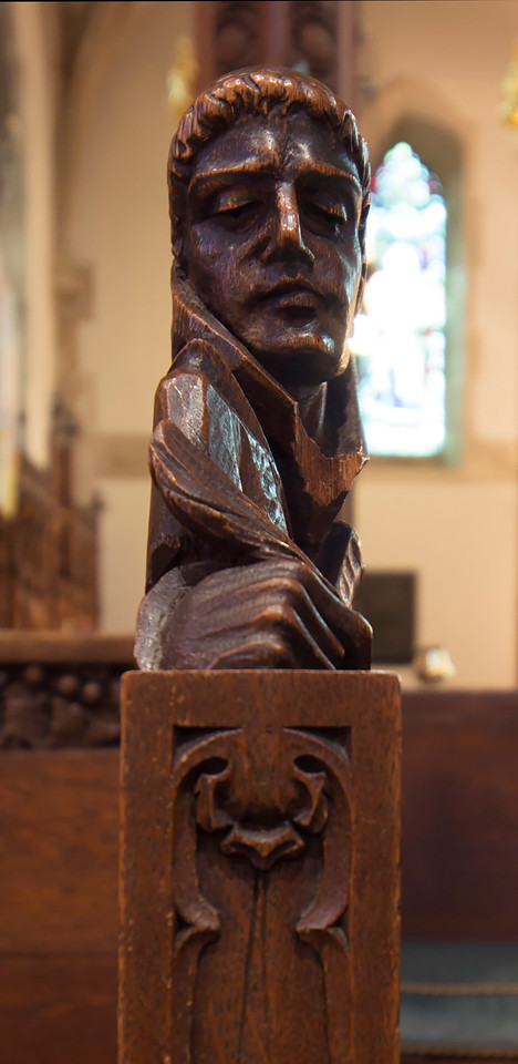 Choir Pew Figure 5: St. Bernard of Cluny, profile