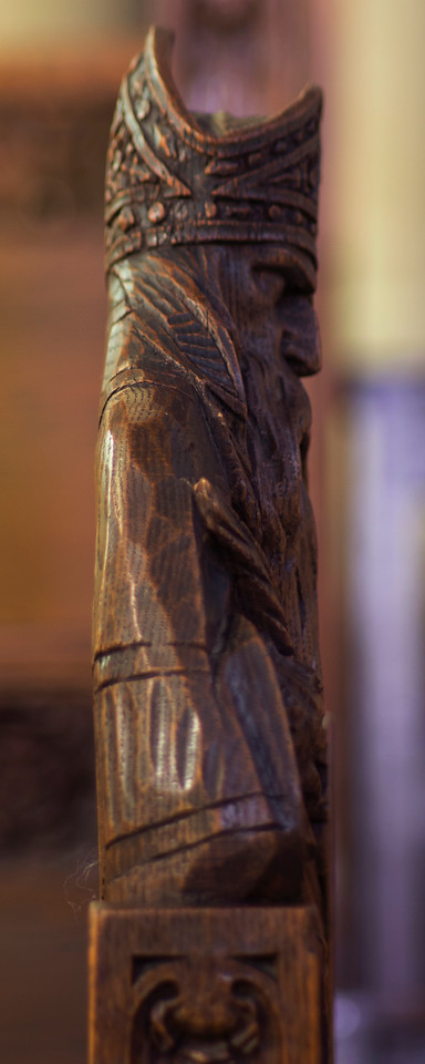 Choir Pew Figure 10: St. Andrew of Jerusalem, profile