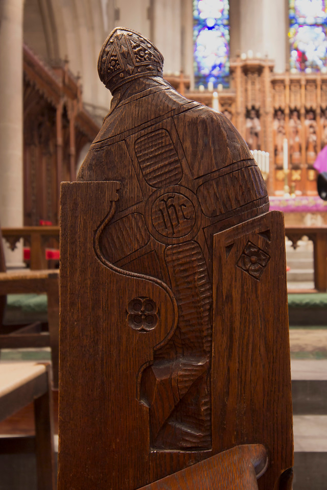 Choir Pew Figure 10: St. Andrew of Jerusalem, rear