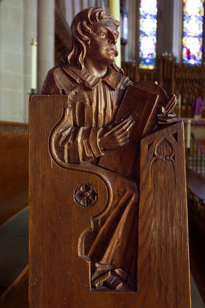 Choir Pew Figure 2: Theodulph of Orleans, front