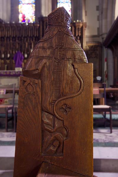 Choir Pew Figure 8: St. St. Bernard of Clairvaux, rear